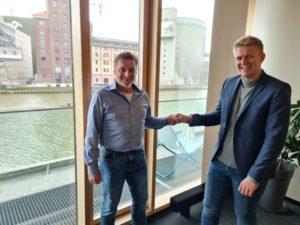 Stefan und Felix Feldmann im neuen STF Büro in Münster