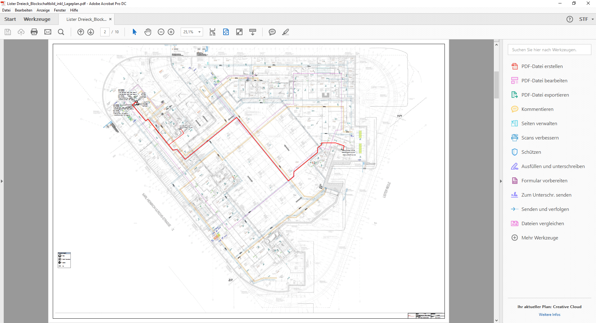 Plan Neubau Bürogebäude Inhouse Versorgung