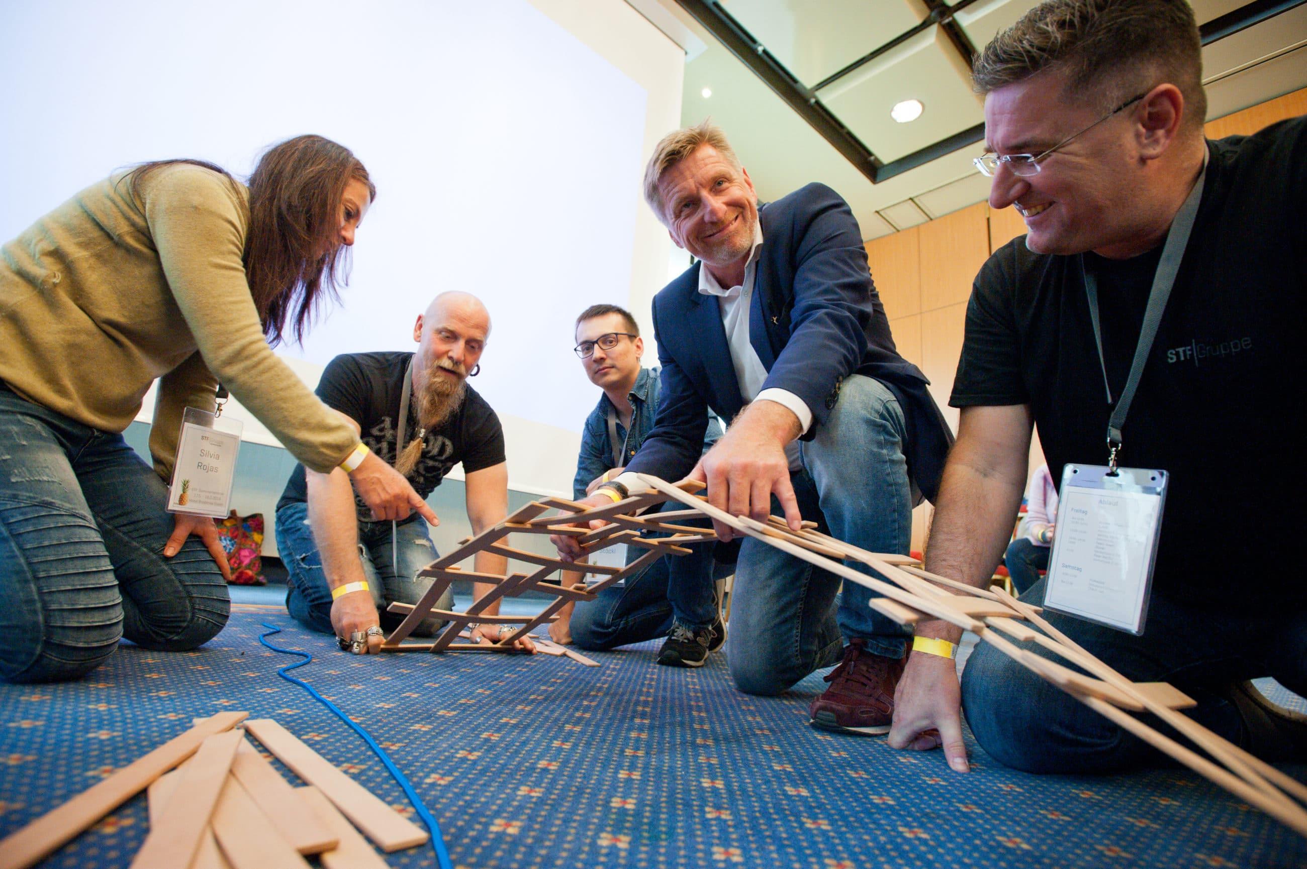 Teambuilding Leonardo Brücke