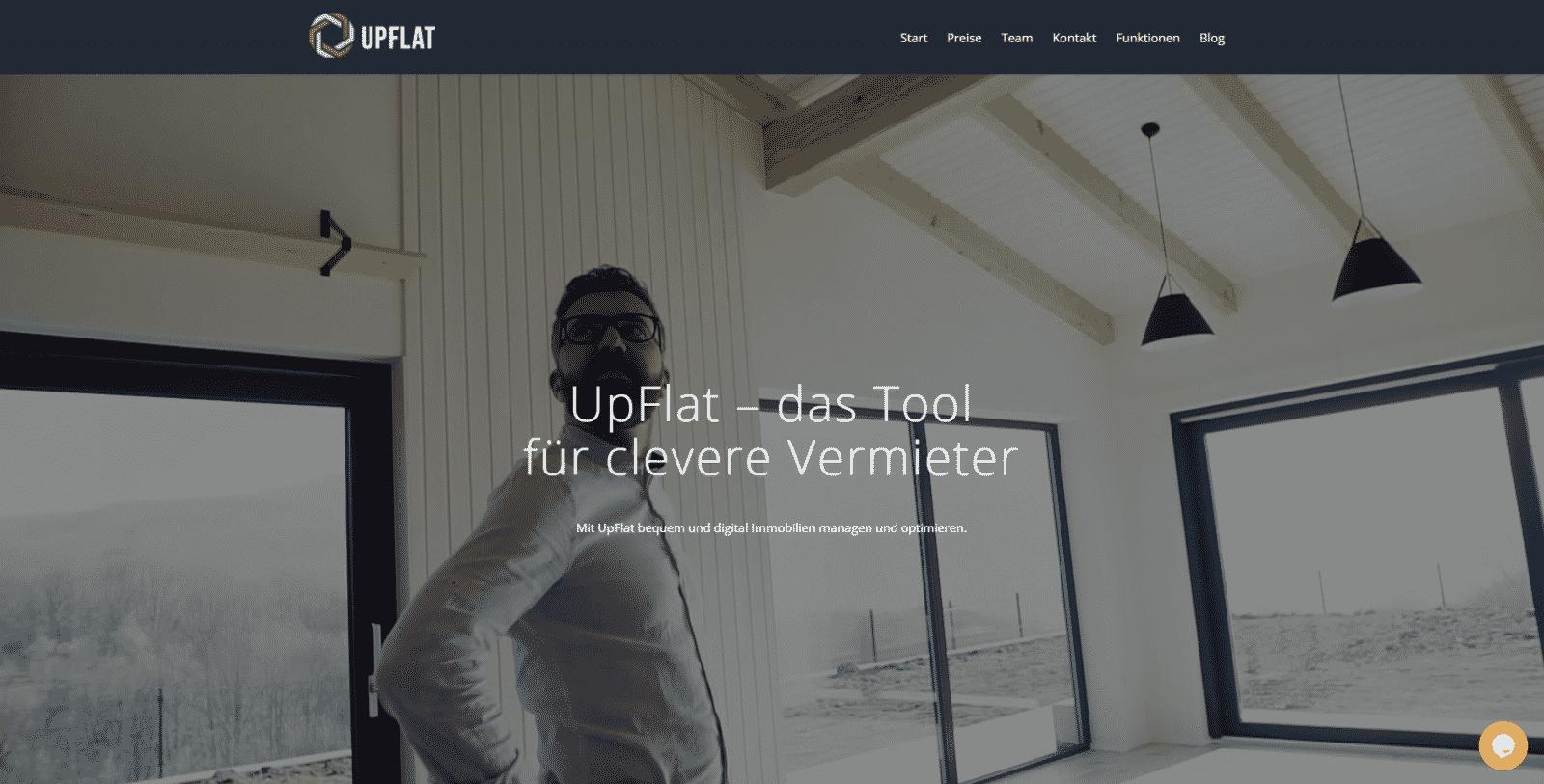 Die Website der Immobilienplattform UpFlat geht in die Testphase
